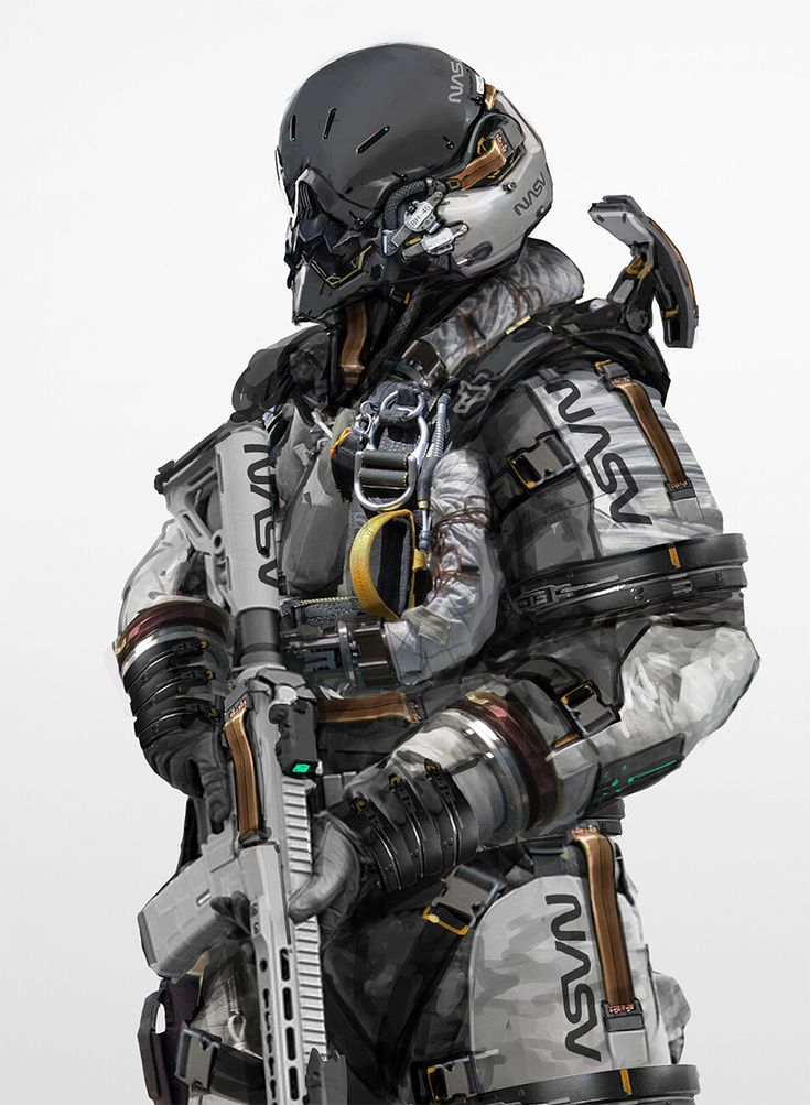 ArtStation – Combat Astronaut, Johnson Ting