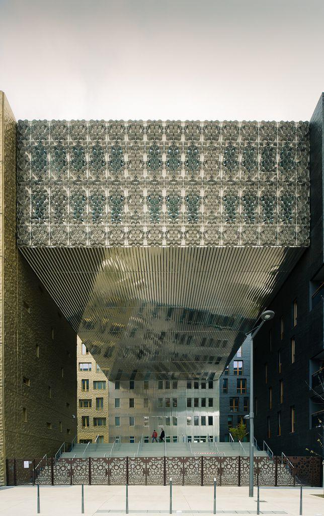 """""""Le Monolithe"""", headquarters of Cofely, quartier de la Confluence (the quarter where the 2 rivers come together), Lyon, France."""