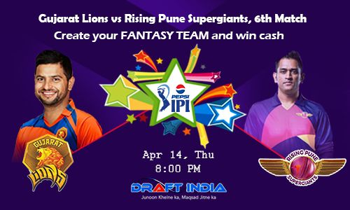 Old mates #MS #Dhoni and #Suresh #Raina, former #IPL teammates, will turn opponents for today's crucial clash.  Enter your #Fantasy team for #Gujarat #Lions vs #Rising #Pune #Supergiants game #Indian #Premier #League 2016 and win cash free https://www.draftindia.in