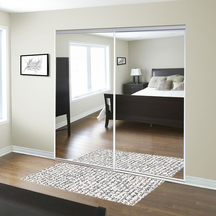 Frameless Mirror Sliding Closet Doors For The Entryway Reliabilt 48 In X 80 In Mirrored Interior