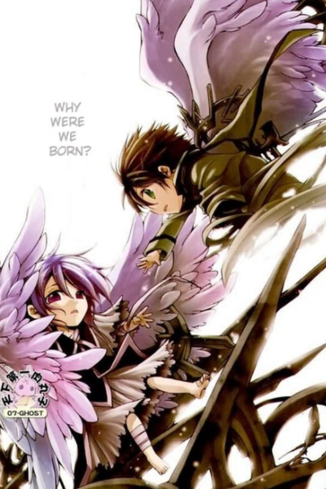 07-Ghost Teito and Ouka, both having activated the eye of Mikhail and Raphael