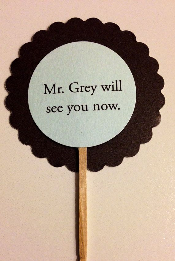 50 Shades of Grey Party Picks. Cupcake Toppers, Party Picks, Favor Tags. on Etsy, $5.99