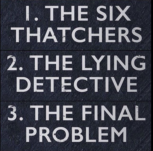 YEAHSSSS!!!!! Can't wait! The final problem definitely means a moriarty comeback and possibly another death.