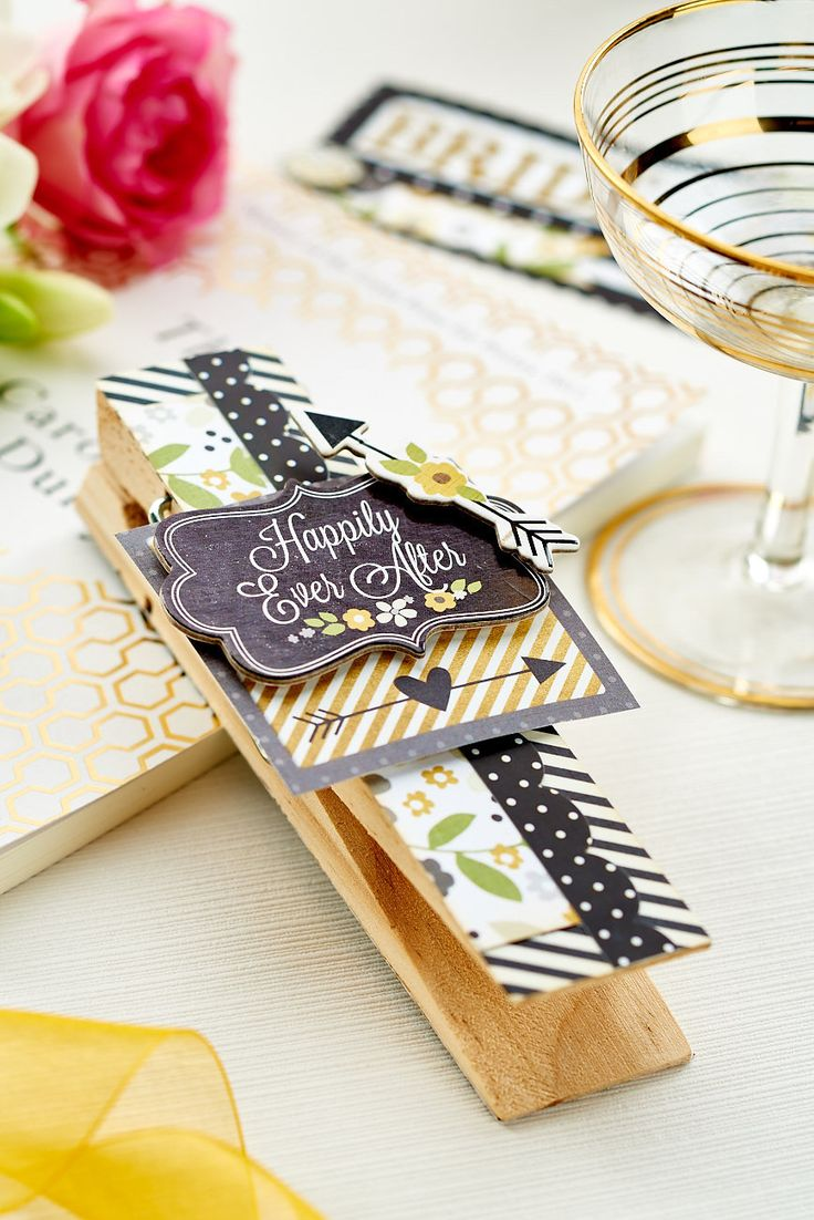 Use stickers to turn a pag into a snazzy wedding place marker in our May 2015 issue, on sale now!