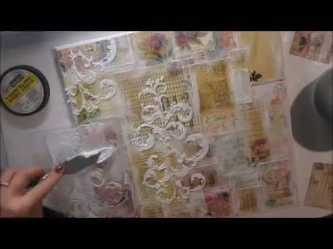 ▶ 'Smile' mixed media canvas for My Creative Scrapbook - YouTube