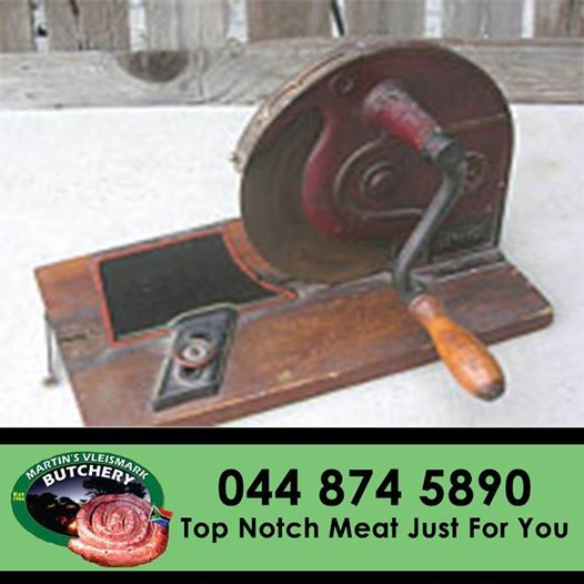 #Antique #meat slicer back in the 1990's - luckily things have change. #butchery