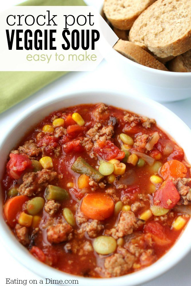 This soup is a hearty but healthy meal where you can dump all the ingredients and go about your day. Come home to a house filled with the delicious smell of vegetable soup.