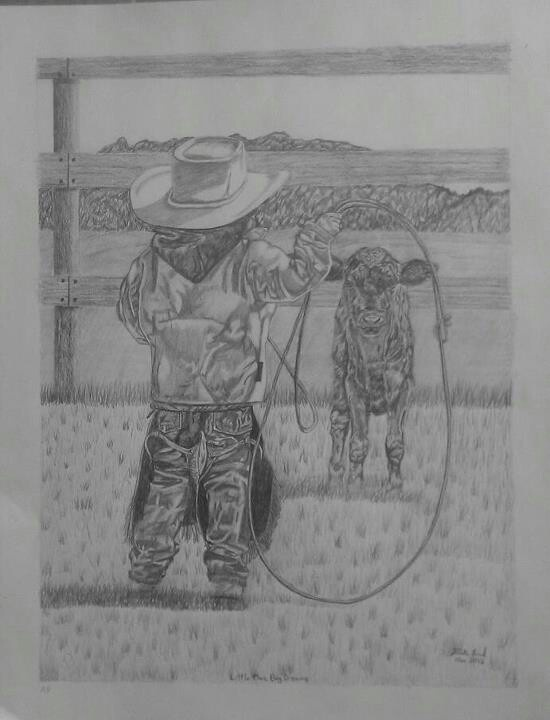 """Little Man, Big Dreams""  Pencil art by Vicki Lind on Facebook"