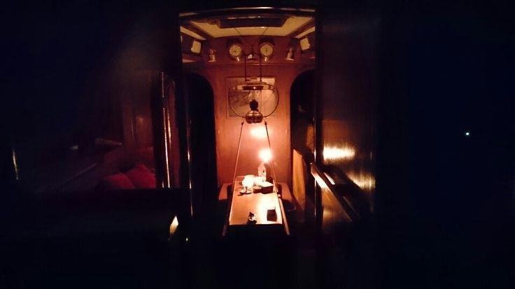 Inside El Galante at night