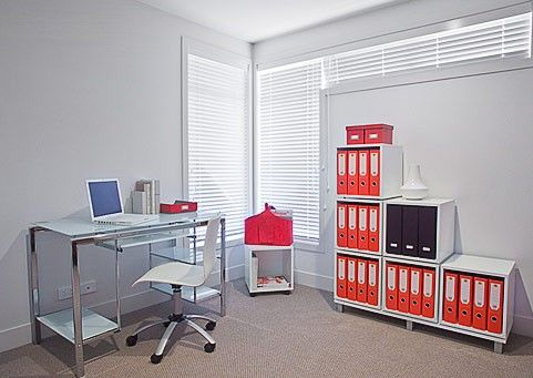 Cubox Home Office  With the Cubox it's easy and fun! Cubox is a range of versatile and stylish interlocking, stackable storage cubes that offers almost endless storage options.