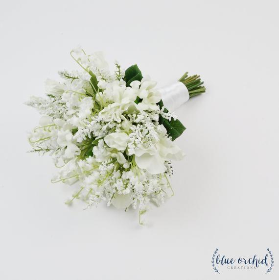 White Wedding Bouquet Wedding Bouquet Artificial Bouquet Bridal
