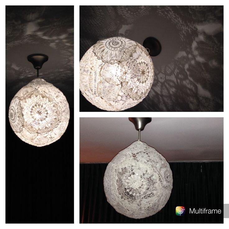 Zelf gemaakte lamp.