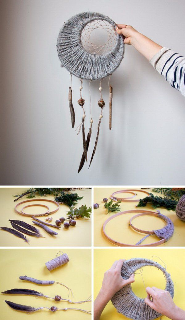 DIY Project Ideas Tutorials: How to Make a Dream Catcher of Your Own