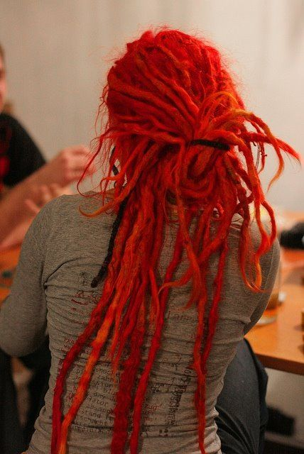 Red Dreads. Jade wants me to get dreads. i honestly dont think id like them after i got them. ony certain people can pull it off and i dont think im one of them