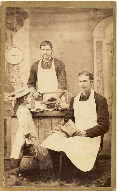 Butcher Shop Interior Victoria Illinois CDV