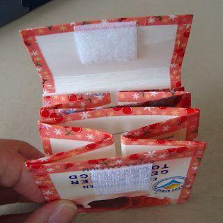 Portemonnee van melkpak gemaakt. Leuk!