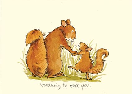 Something to Tell You A Two Bad Mice Card (no longer in print) by Anita Jeram www.twobadmice.com