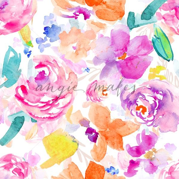 Colorful Watercolor Flower Background In 2020 Watercolor Flower