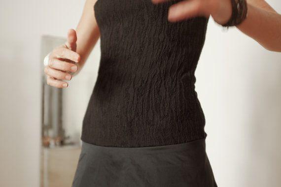 Vestito Invernale Grigio e Nero Vestito Nero Abito di atelierPop