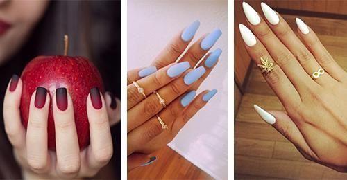 Na rynku pojawiły się matowe lakiery do paznokci. Nie wszyscy je kochają, ale my zdecydowanie TAK! #matowe #paznokcie #manicure #kobieta #czarne #różowe #błękitne #cieliste #trendy #2016