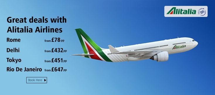 Widen your World and Fly with Alitalia, Book here - http://www.brightsun.co.uk/airlines/alitalia