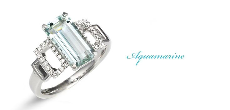 Aquamarine and diamond ring , handmade in our workshop