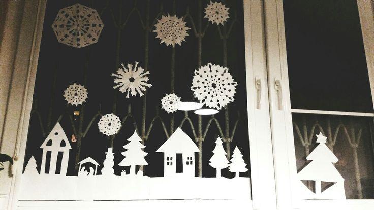 Christmas window ornaments #christmas