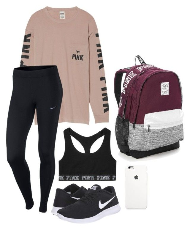 """#2"" by lily141 on Polyvore featuring NIKE and Victoria's Secret"