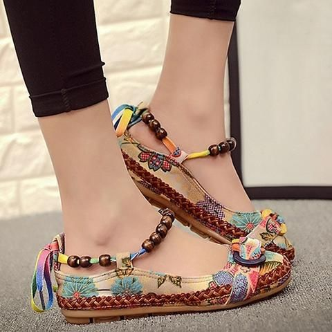 GLMBuy - Bohemian Soul Shoes - Red / 5