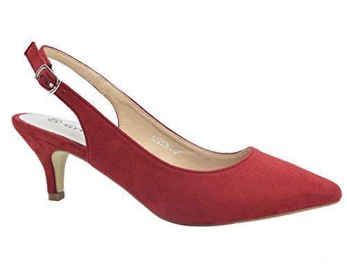 Oferta: 29.99€ Dto: -30%. Comprar Ofertas de Greatonu Zapatos de Tacón Rojos de Modas Cómodos de Fiesta para Mujer Tamaño 39 EU barato. ¡Mira las ofertas!