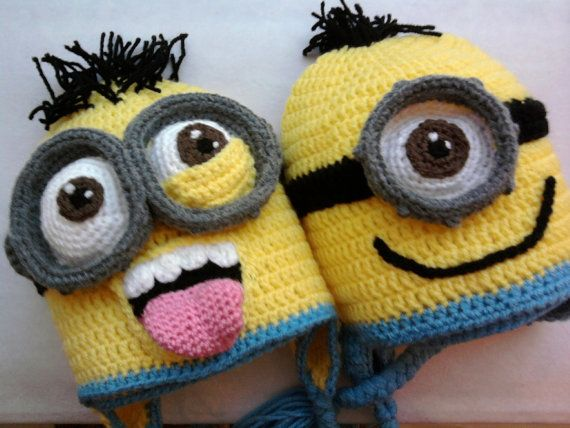 Minion inspired crochet hats pattern 12 months to adult
