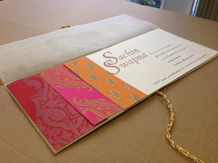 Indian wedding card.