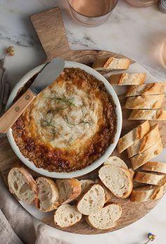 DIP de queso cebolla puerro y champiñon
