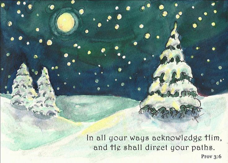 Winter Night Painting