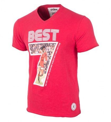 George Best Miss World football t-shirt.