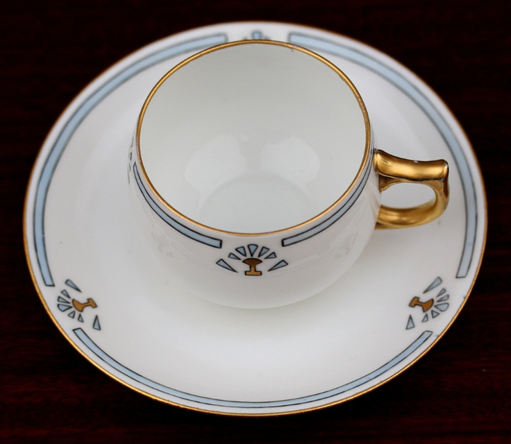 German Porcelain Tea Cup and Saucer, Deco Design c1920s | eBay