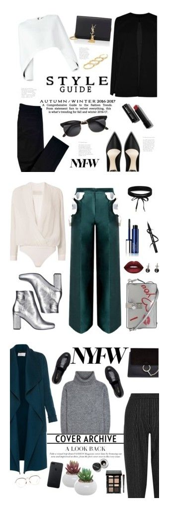 """""""Winners for Pack for NYFW"""" by polyvore ❤ liked on Polyvore featuring Balmain, J Brand, Boohoo, Bobbi Brown Cosmetics, Yves Saint Laurent, H&M, Fallon, Michelle Mason, Dolce&Gabbana and Clinique"""