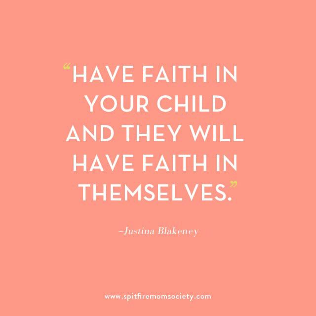 """Have faith in your child and they will have faith in themselves"" The SpitfireMom Society Introduces: Justina Blakeney"