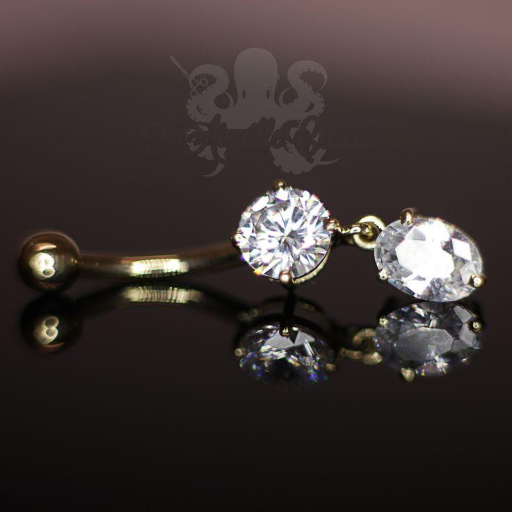 Bijou de nombril en or 14 carats