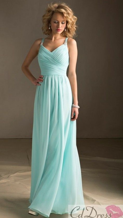 Like the shade of blue and the style ~ such a lovely dress.