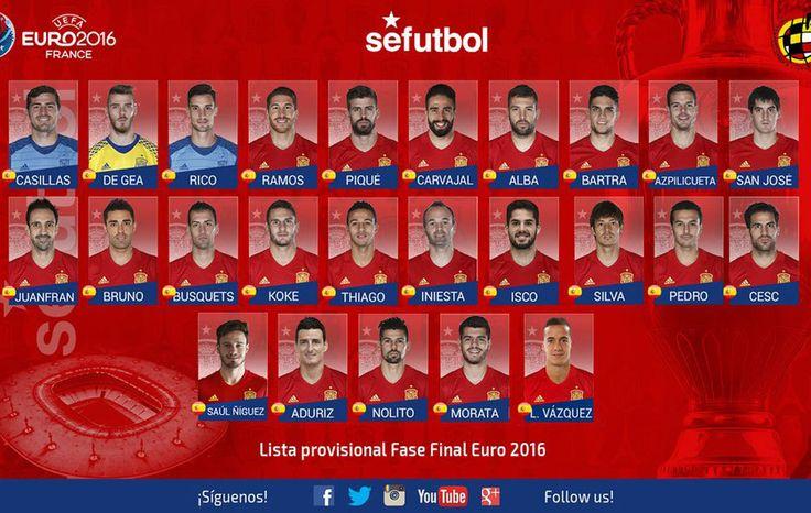 Lista España Eurocopa 2016: Lucas Vázquez y Saúl, las novedades; Alcácer, Costa y Mata se quedan fuera | Marca.com