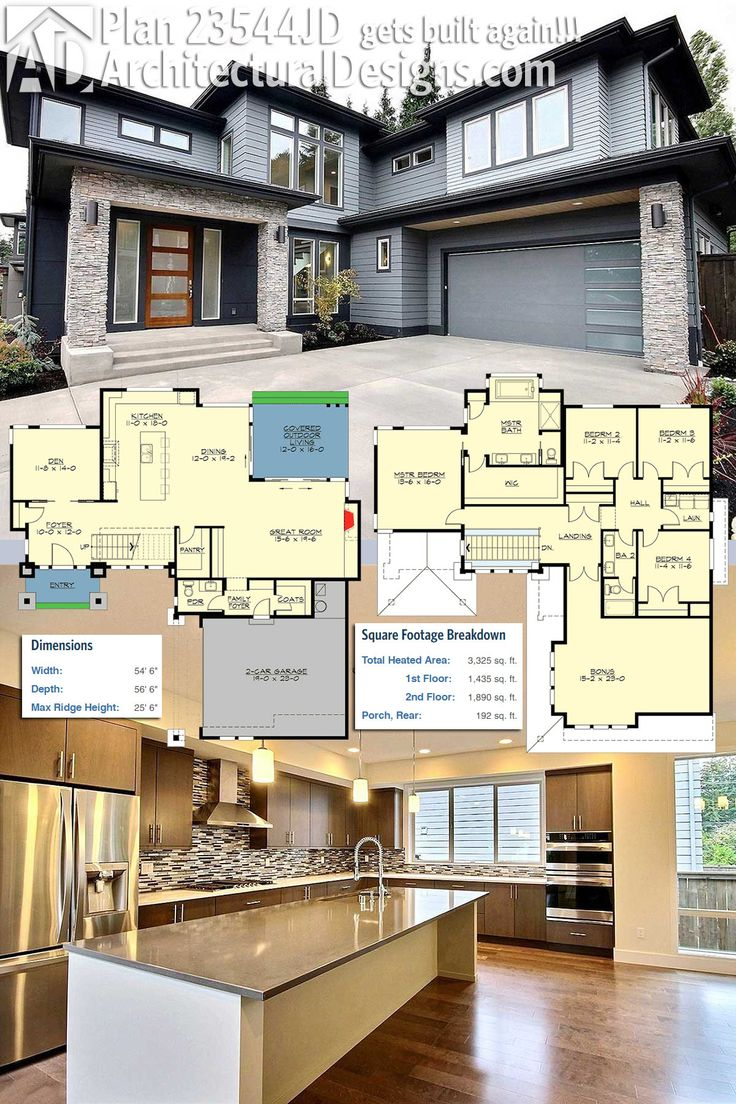 Architectural Designs House Plan 23544JD Gets Built. Again!!! The Airy  Foyer Has