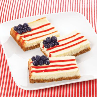 4th of July finger food: Cheesecake Bar, Food Ideas, Flags Cheesecake, Cheesecake Squares, American Cheesecake, 4Th Of July, July Food, Picnics Recipes, Patriots Cheesecake