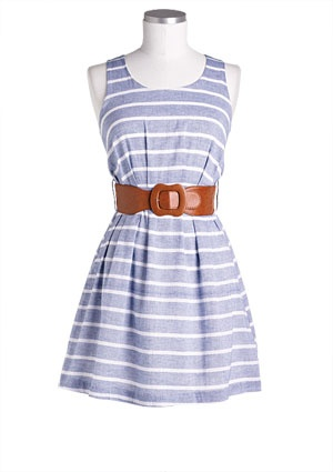 Stripe Chambray Dress > dresses > casual - Want to save 50% - 90% on women's fashion? Visit http://www.ilovesavingcash.com