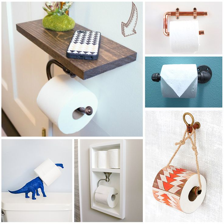 Diy toilet paper holders for your home andrea 39 s notebook Creative toilet paper holder