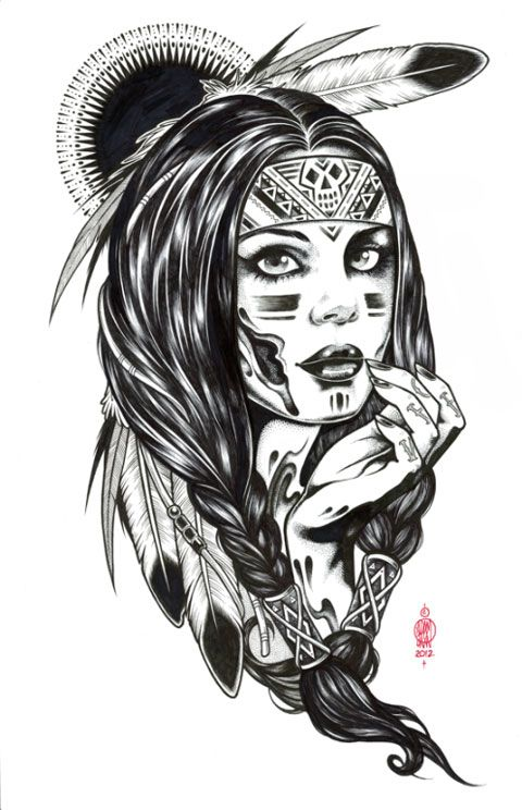 17 best native americans coloring pages images on for Native american tattoo artist seattle