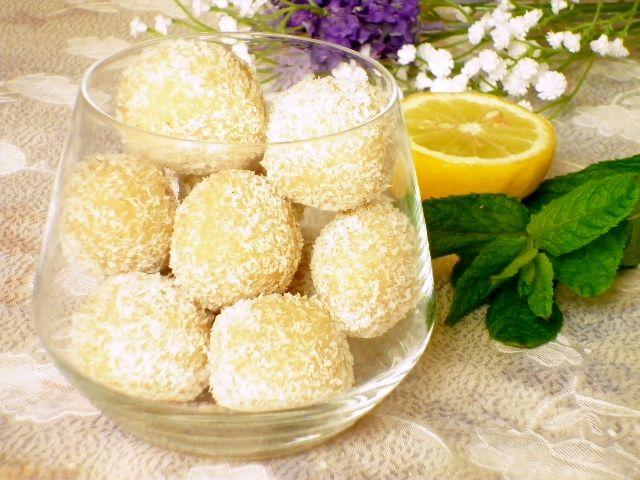 Palline cocco e limone