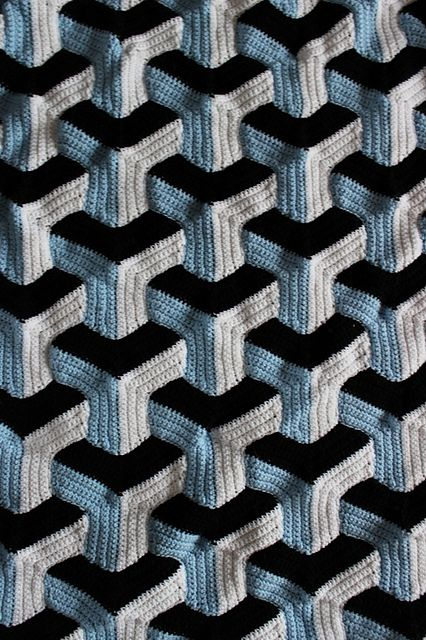 Ravelry: Illusion Blanket pattern by Julie Lapalme