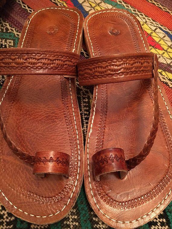 23da0195ffa29 Moroccan leather Sandals Handmade Leather SandalsBrown ...