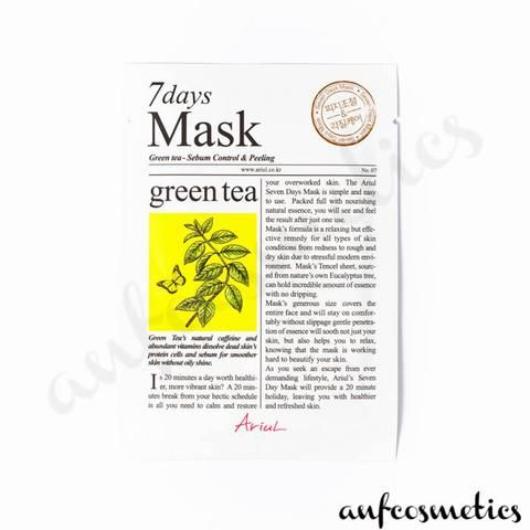 Ariul 7 days mask green tea